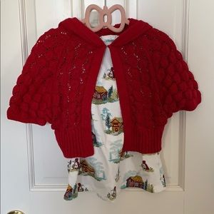 Little red riding hood dress and sweater
